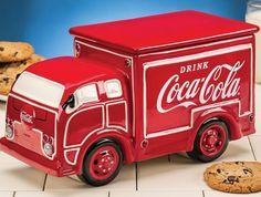 Coca-Cola Coke Delivery Truck Ceramic Cookie Jar Mccoy Cookie Jars, Antique Cookie Jars, Ceramic Cookie Jar, Ceramic Jars, Pepsi, Coca Cola Ad, World Of Coca Cola, Vintage Coke, Cute Cookies