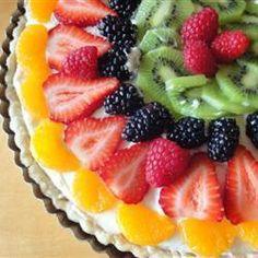 Crostata al cioccolato bianco e frutta fresca #ricette #cucina #crostate #frutta estiva