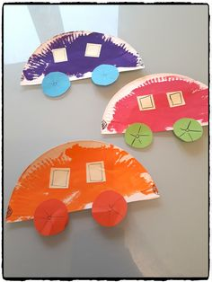 Cars in paper plates – - Easy Crafts for All Paper Plate Crafts For Kids, Diy Crafts For Kids, Easy Crafts, Daycare Crafts, Toddler Crafts, Toddler Activities, Preschool Activities, Recycled Crafts, Spring Crafts