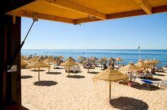 #Beach Praia de Quarteira, Algarve, Portugal | via http://blog.turismodoalgarve.pt