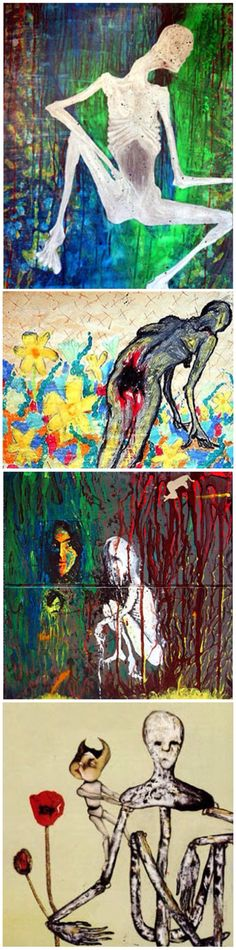 Paintings by Kurt Cobain http://bromgershtrausendyatlovsky.blogspot.com/2011/01/kurt-cobains-art.html
