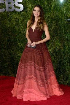 Sutton Foster in Marsala. See what everyone wore to the 2015 Tony Awards.