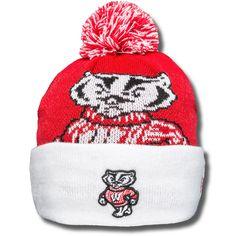 New Era Big Bucky Knit Hat (Red/White)