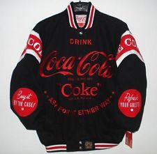 SIZE XL COCA COLA COKE Bottle NEW Embroidered cotton twill Jacket XL