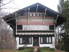 The Swiss house in the neighborhood I grew up in (Walnut Hills) in Cincinnati.  There were so many victorians in this area, if you don't know this is on this quiet little street you will miss it.