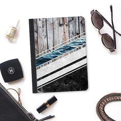 Striped Materials of Nature I - iPad Folio Case #wood #wooden #marble #stone #sea #ocean #stripe #stripes #striped #nature #texture #ipad #case