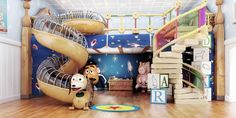 toy story room-Amazing!! i wish I was rich so my son could have this room lol
