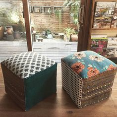 Fabric Crafts, Sewing Crafts, Diy And Crafts, Arts And Crafts, Sofa Chair, Outdoor Furniture, Outdoor Decor, Handicraft, Ottoman