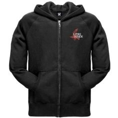 A Fire Inside AFI Raven Zip Hoodie Medium. From AFI - A Fire Inside - comes this high quality black, zip-up hooded sweatshirt featuring their raven logo on the left chest. Other features include two front pockets, banded waist and wrists, and a drawstring hood.