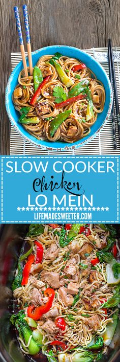 Slow Cooker Chicken Lo Mein makes the perfect easy weeknight meal! Best of all…
