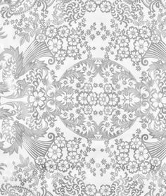 Silver Paradise Lace Oilcloth Fabric - $6.05 | onlinefabricstore.net