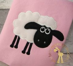 Shaun the sheep machine embroidery design file by Cutencooldesigns