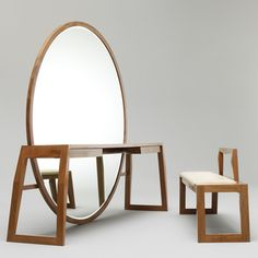 Mirror Table Bench by Buhr