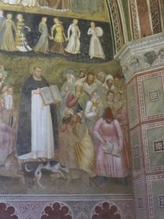 Thomas Aquinas in a detail of a fresco