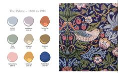 Take a trip through the history of paint color with Benjamin Moore and The Decorologist, including the Benjamin Moore 2020 Color Palette Elsie De Wolfe, Arts And Crafts Movement, William Morris, Muted Colors, Benjamin Moore, Abstract Pattern, Color Trends, Color Inspiration, Paint Colors
