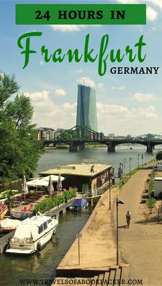 Are you flying into Frankfurt? Read our detailed itinerary for 24-hours in Frankfurt. If you happen to have a layover or are stopping on your way through. There is plenty to see in one day in Frankfurt. 24 hours in Frankfurt | layover in Frankfurt | things to do in Frankfurt #frankfurt #layoverinfrankfurt #ffm #frankfurtskyline #skyline