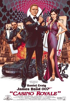 Casino Royale poster commission by comics artist Chris Weston