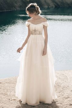 Bohemian Wedding Dress from Silk Organza and by CoconBridal