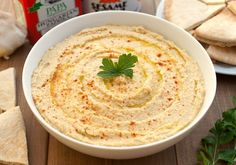 Hummus is easy to make at home and you can use one of the many recipes provided to get the taste and texture you like. Hummus is healthy, nutritious Spicy Hummus Recipe, Homemade Hummus, Vegan Hummus, Healthy Hummus, Humus Recipe, Cauliflower Hummus, Healthy Protein, Food Porn, Healthy Snacks