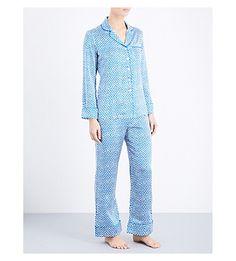 OLIVIA VON HALLE Lila Amna Silk-Satin Pyjama Set. #oliviavonhalle #cloth #sleepwear & lingerie