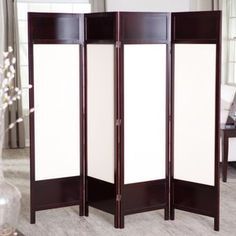 Griffin Canvas 4 Panel Room Divider - Rosewood.  Walmart.