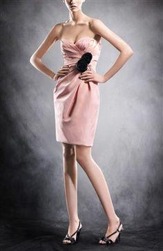 Short Sheath Sweetheart Sleeveless Ruffles Cocktail Dresses - OuterInner.com