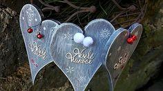 kreatiwik / Vianočné dekoratívne srdiečka