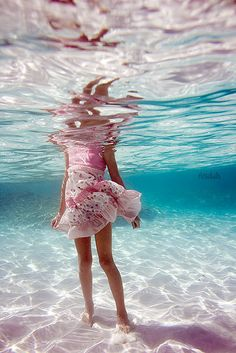 Pink. Aqua. Under water