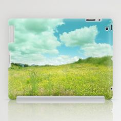 Fields of flowers. Vintage iPad Case by Guido Montañés - $60.00