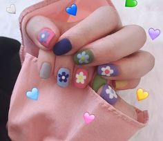 Hyuna-style nails - Focus on sharing Funky Nails, Trendy Nails, Cute Acrylic Nails, Gel Nails, Pastel Nails, Hello Kitty Nails, Kawaii Nails, Japanese Nails, Fire Nails