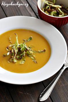 Polévka z pečené mrkve proti nachlazení Thai Red Curry, Paleo, Ethnic Recipes, Soups, Kitchen, Food, Cooking, Kitchens, Essen