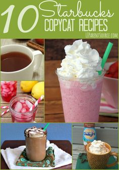 Ever wanted to know how to make Starbucks drinks at home? Here are 10 amazing Starbucks copycat recipes that you need to try right now. Go!