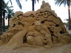 Esculturas en arena
