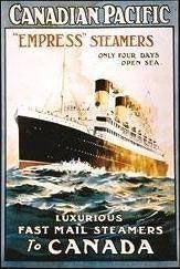 Affiche faisant la promotion de l'Empress of Ireland  www.empress2014.ca