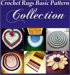 FREE e-Book: Crochet Rag Rugs Basic Pattern Collection! {How to Make a Rag Rug}