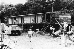 Catetinho, primeira residência presidencial em construção em Brasilia || Crédito: Mario Fontenelle | Arquivo Público
