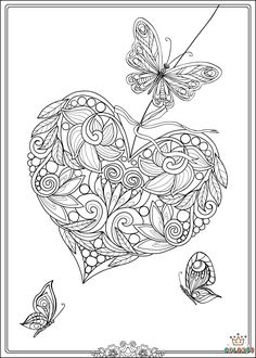 Free butterfly Mandala Coloring Pages. 30 Free butterfly Mandala Coloring Pages. Difficult butterfly Colouring Pages Heart Coloring Pages, Butterfly Coloring Page, Pattern Coloring Pages, Coloring Book Art, Adult Coloring Book Pages, Printable Adult Coloring Pages, Mandala Coloring Pages, Flower Coloring Pages, Coloring Pages To Print