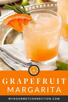 Made with tequila and fresh-squeezed juices, this grapefruit margarita on the rocks is a refreshingly easy twist on a classic. Grapefruit Margarita Recipe, Margarita Recipes, Fruit Recipes, Appetizer Recipes, Easy Recipes, Tequila, Margarita On The Rocks, Chips And Salsa, Easy Cocktails