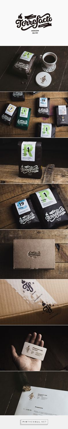 New Packaging for Torrefacto by Fork — BP&O curated by Packaging Diva PD. This coffee identity packaging branding is from Russia.