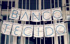 Banco de tecido, negócio de moda sustentável. São Paulo, Brasil.