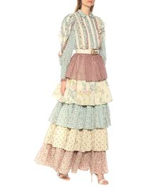 OMG Little House on the Prairie to the max! Gorgeous and comfy Gucci White Tiered Floral Cotton Maxi Skirt Cotton Maxi Skirts, Satin Midi Skirt, Printed Maxi Skirts, Black Maxi Skirt Outfit, Maxi Skirt Outfits, Denim Skirt, Clubbing Outfits, Gucci Floral, Ladies Dress Design