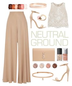 """nude"" by dn-dffn ❤ liked on Polyvore featuring Alice + Olivia, Yves Saint Laurent, The Row, Charlotte Russe, Terre Mère, NYX, BERRICLE, Lana Jewelry, Gucci and NARS Cosmetics"