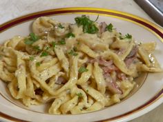 Get this all-star, easy-to-follow Pancetta Bacon Pasta recipe from Diners, Drive-Ins and Dives.