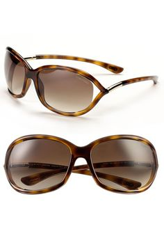 Tom Ford 'Jennifer' Oval Frame Sunglasses. Named after Jennifer Aniston. Perfect on EVERY face shape. $380 in 5 shades mail to: kristin.pereyra@nordstrom.com