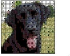 Black lab cross stitch pattern | Facebook
