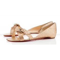Cheap Christian Louboutin sandal Atalanta Flat white on sale - $123.66