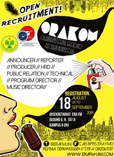 ORAKOM ERAFM-UNJ #pamphlet #UNJ #ERAFM #2014 #uchiliciousproject