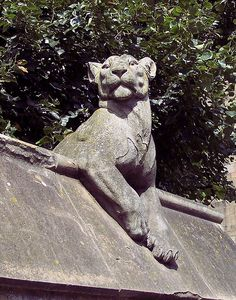 Cardiff Lioness, Cardiff Castle, Cardiff - Animal Wall. Thomas Nicholls 1888 Alexander Carrick 1931 Castle Street. The Wall originally consisted of nine animals and was located outside Cardiff Castle. Six new animals were added when it was moved to its current location in the 1920's.