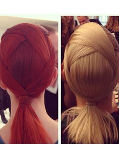 This with a bun instead of a ponytail would be perfect for dancing. - Minimal, modern ponytails at Fendi fall 2014