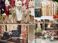 {bibliophile} a literary lovers book themed wedding in red and brown